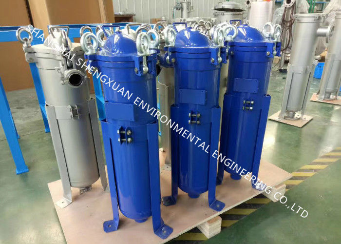 SS 304 Material Single Bag Filter Housing With High Pressure Chemical Top Entry